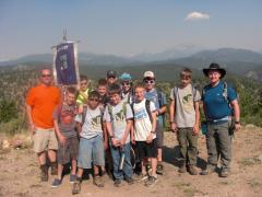 """Derek's """"Team Brebuf"""" of Junior-High Campers"""