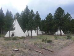 These teepees are slept in all summer long!
